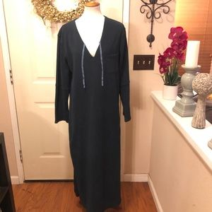 NWT Donna Karan Intimates Long Hooded Fleece Robe